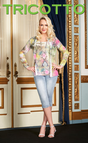 702-S20 (Blouse)  Shown with matching camisole 703-S20