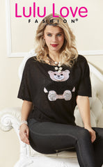L-801 (Teddy bear t shirt only)  Shown with pearl Les Nana necklace 9578