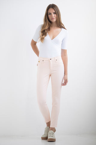 1161 (Dusty rose/Chalk High Rise Ankle Jeans)