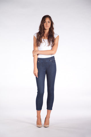 1494 (High Waisted Pull On Ankle Jeans)