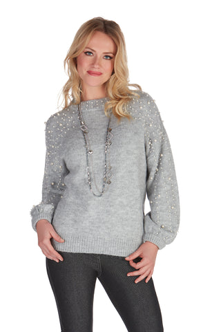 TRICOTTO SWEATERS-TRICOTTO PEARL SWEATER-PEARL SWEATERS-TRICOTTO FASHION ONLINE
