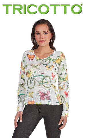 605-S20  (Sweater) Please note bicycle is orange colour.