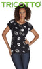616 (Lips t-shirt only) Print front only, back navy/white stripe (40% Off)