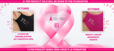 M-20142 (Non-medical Face mask)  A donation is made from the sale of each mask (pack) to the Breast Cancer Foundation