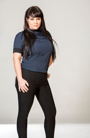 1557 (Bengaline Stretch Black Jeans) 40% Off