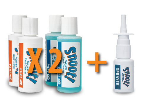 "Snoot! Cleanser ""Original Formula"" Refill 4-Pack plus Bonus Sprayer"