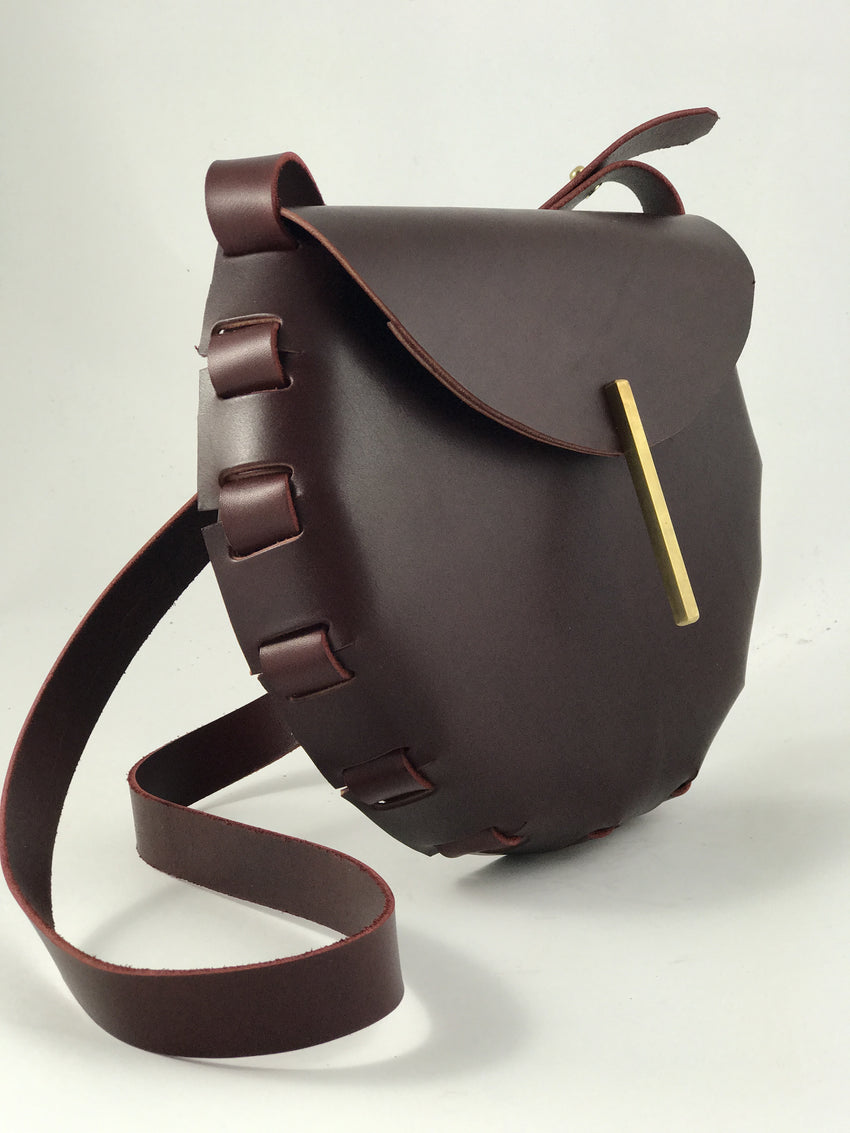 Adelle Stoll Handmade Fitch Crossbody leather Saddlebag
