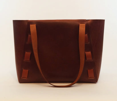 Adelle Stoll handmade large Riverfront leather tote