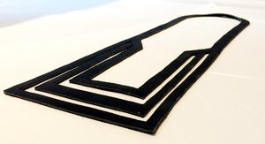 Adelle Stoll Frames Handcut Leather Necklace