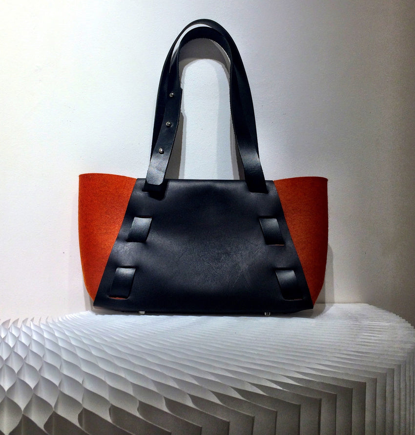 Adelle Stoll Handmade Armstrong Mini Classic Tote Bag in Felt + Leather
