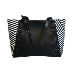 Riverfront Tote in Leather + Textile