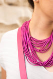 Adelle Stoll handmade leather Strand necklace
