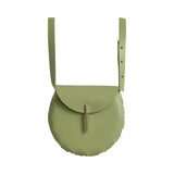 Adelle Stoll Handmade Fitch Crossbody Saddlebag in Green leather