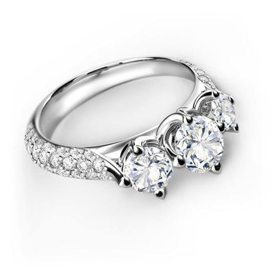 FOREVERMARK™  Three Stone - KLARITY LONDON
