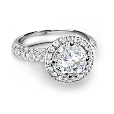 FOREVERMARK™  Three Diamonds Ring - KLARITY LONDON