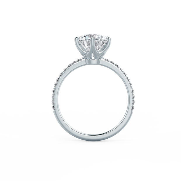 Solitaire Six Pave (18k WG) Round 1.01ct I SI2