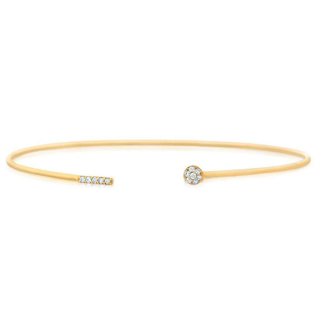 Dainty Diamond Cuff Bangle