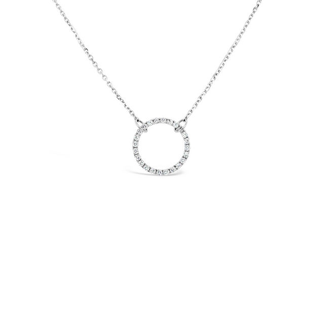 Diamond Circle Of Life Necklace