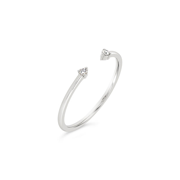 Double Diamond Cuff Ring