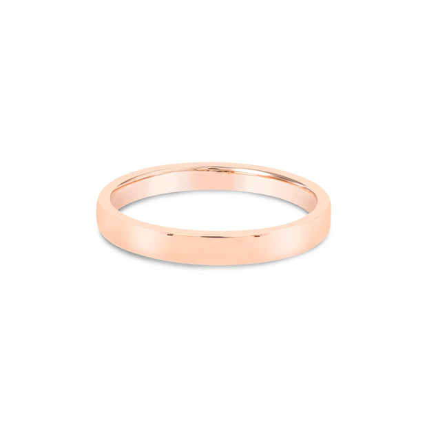 18k Gold | 2.5mm Stackable Flat Band - KLARITY LONDON