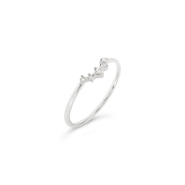 Contour Diamond Ring
