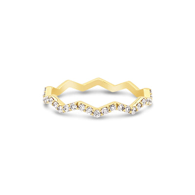 Zigzag Diamond Stacking Ring - KLARITY LONDON