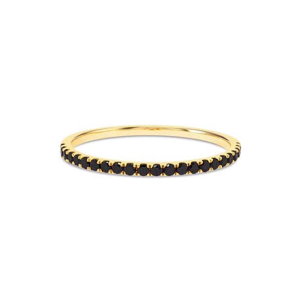 Pave Stackable Black Diamond Ring