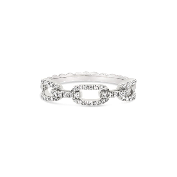 Two Tone Diamond chain top ring