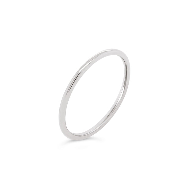 18k Gold | 1.2mm Stackable Round Band