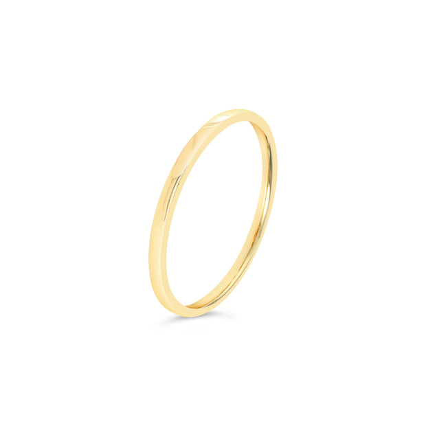 18K Gold | 1.3mm Stackable Flat Band - KLARITY LONDON