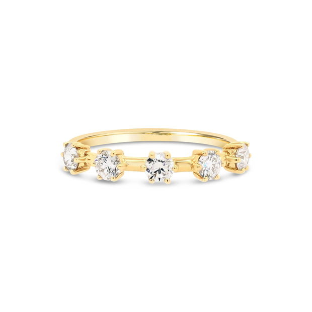 Large diamond spaced ring