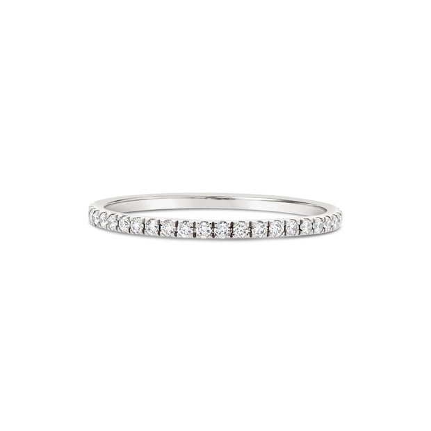 Pave Stackable Diamond Ring