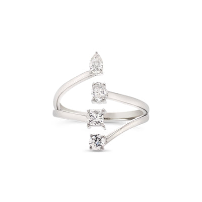Fancy 4 diamond ring - KLARITY LONDON