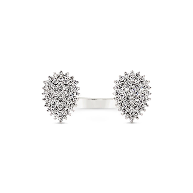 Diamond Cluster Duo Ring