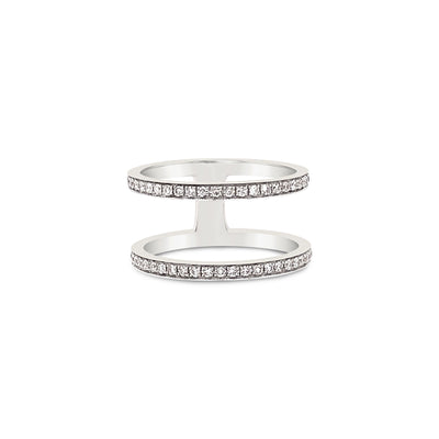 Double Pave Diamond Band