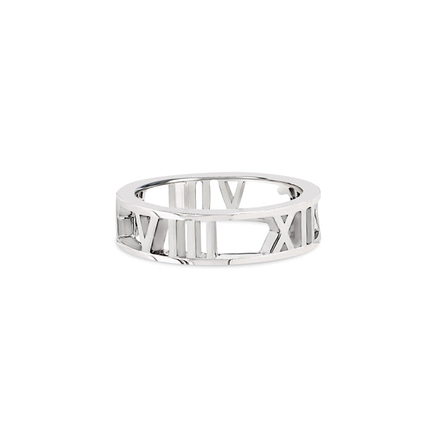 Personalise Roman Numeral Ring - KLARITY LONDON
