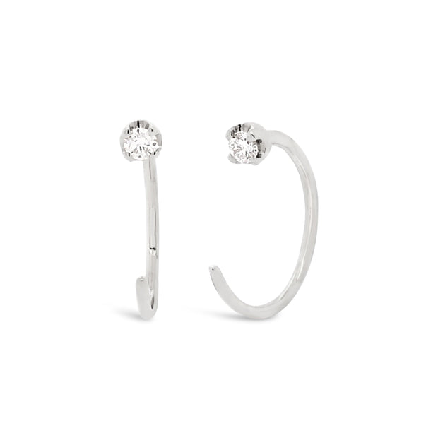 Diamond Cuff Earrings