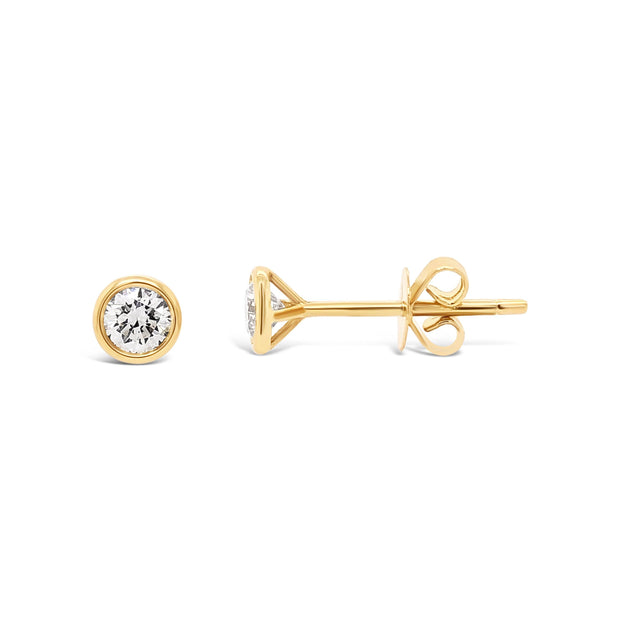 Diamond Bezel Studs - KLARITY LONDON