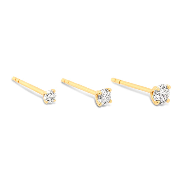 Mini Diamond Studs - KLARITY LONDON