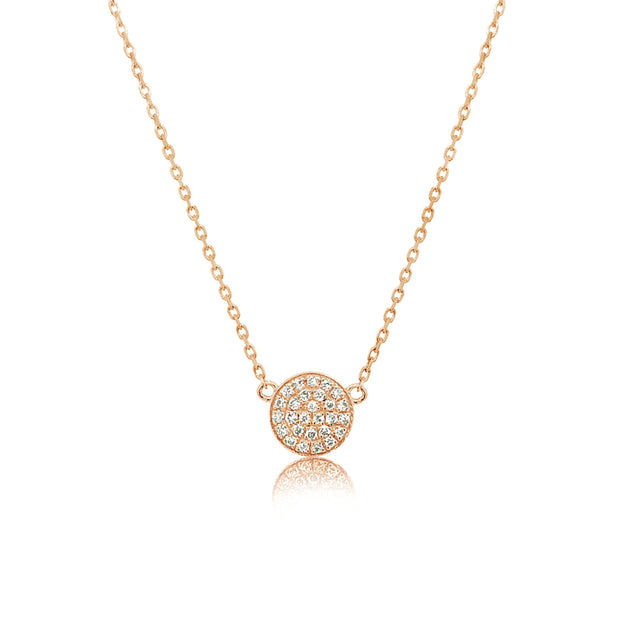 Mini Diamond Coin Necklace