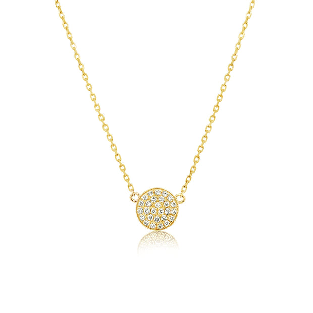 Mini Diamond Coin Necklace - KLARITY LONDON