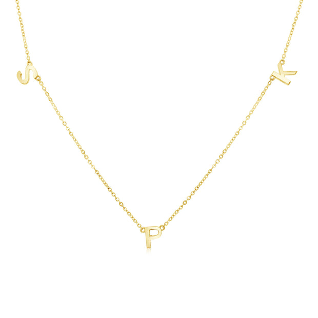 18K Gold | Three Letter Necklace