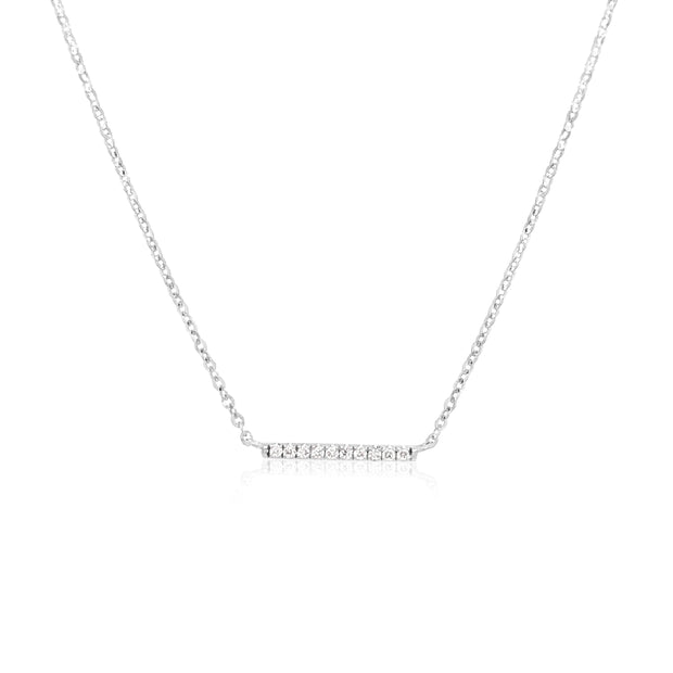 SMALL DIAMOND BAR NECKLACE