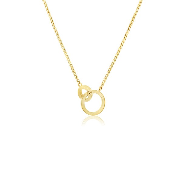 Interlocking circle necklace - KLARITY LONDON