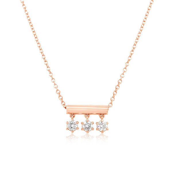 DANGLE DIAMOND NECKLACE - KLARITY LONDON