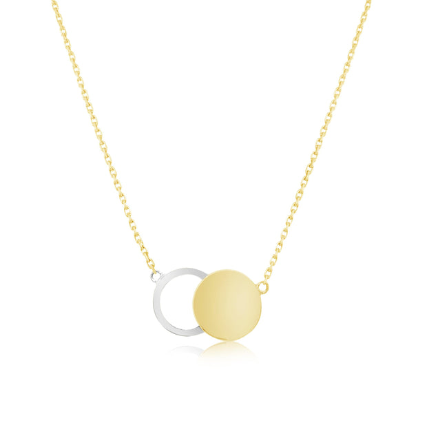 SOLID GOLD ECLIPSE NECKLACE