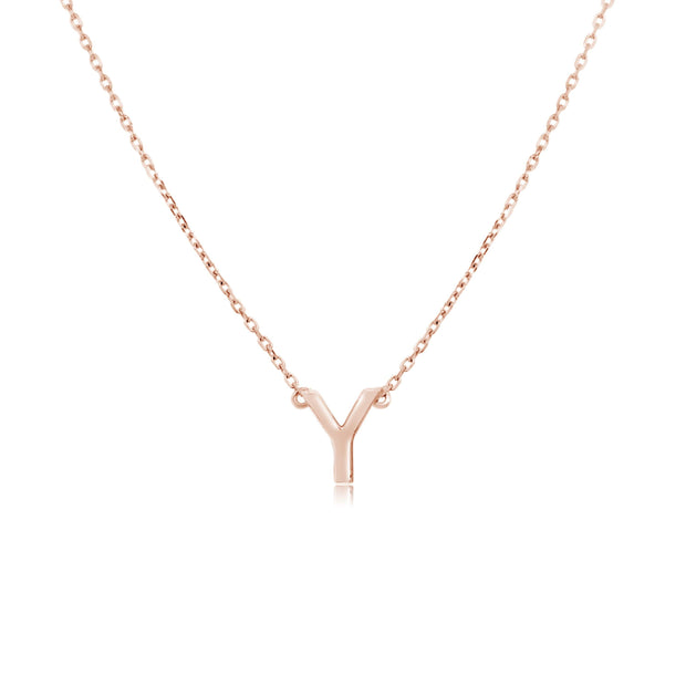 18K Gold | One Letter Necklace