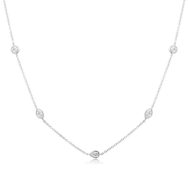MULTI STONE DIAMOND NECKLACE