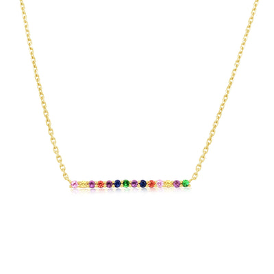 RAINBOW BAR NECKLACE - KLARITY LONDON