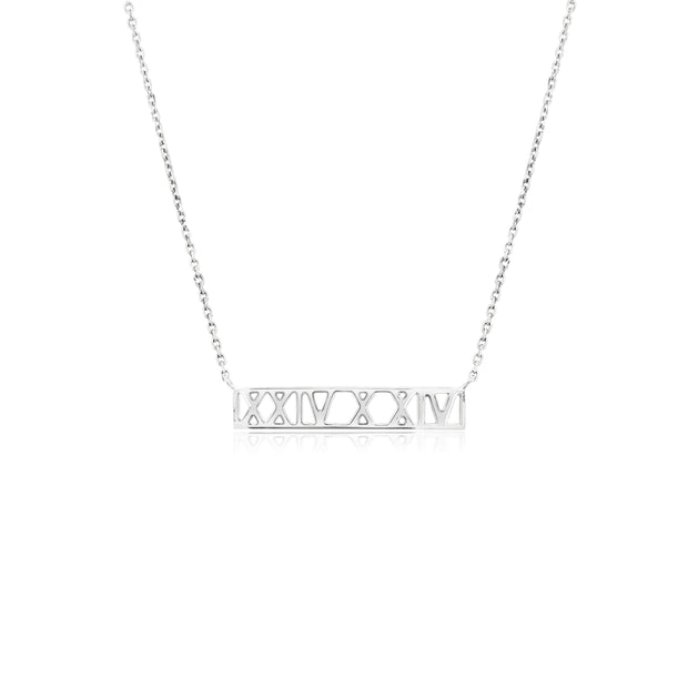 Roman Numeral Personalised Necklace